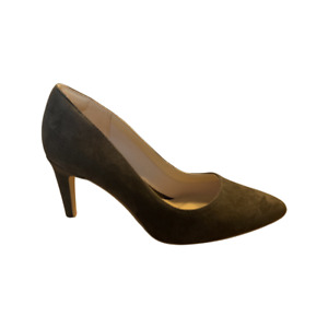 BNIB Clarks Ladies Laina Rae Dark Brown Suede Court Shoes