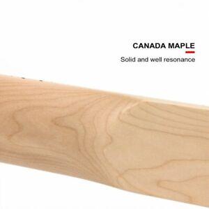 Kmise Jazz Bass Guitar Neck Maple Bone Nut 21 Fret Guitar Parts DIY Unfinished