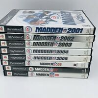 Ps2 Lot Of 8 Madden 2001- 08 (Sony PlayStation 2) Tested