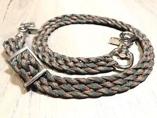 Camo Wither Strap Hand Braided Paracord Tack