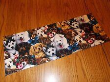 Handmade Dog Puppy decoration MINI table runner Toilet Tank Topper brown animal