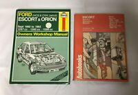 2x Ford Escort Car Manuals Haynes '90 to '92 Autobook 1100, 1300, GT,Van 1967-75
