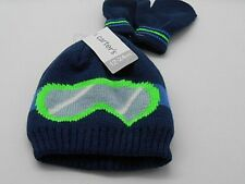 WARM CARTER'S BABY GIRL OR BOY WINTER FALL KNIT CAP MITTENS SET  12-24 MOS NWT