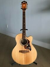 Ibanez Ael50Serlv Cutaway Acoustic-Electric Guitar Flamed Sycamore Back & Sides