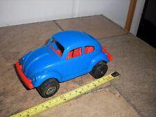 "Rare Vintage Plastic 6"" Strombecker 1960's Vw Bug Classic Beetle w slots & hitch"