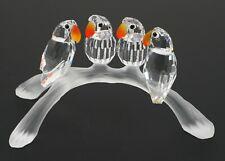 Retired Swarovski Crystal Baby Lovebirds Figurine 199123