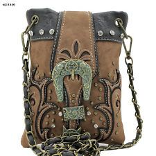 Western Handbag Cowgirl Country Buckle Purse i-phone Bag Messenger Hipster