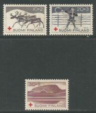Finland 1960 Lapp/Sami Culture semipostal--Attractive Topical (B157-59) MH