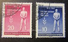 EBS East Germany DDR 1955 International Freedom Fascism Day Michel 459-460A FU
