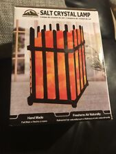 Himalayan Glow 7.9 In. Ionic Crystal Natural Salt Picket Fence Lamp 7-8 Lbs.