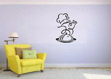 Wall Sticker Mural Decal Vinyl Decor Chef Food Menu Cafe Restaurant