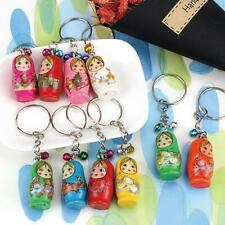 1PC Charm Key Wood Matryoshka Russian Dolls Key Rings Keychains Decorative