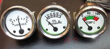 Minneapolis Moline Temp, Oil Pr, Ampere Gauge Set- G,R,U,Z,335,400,445, 500,600,
