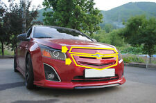 Front Top & Bottom Tuning Grill PAINTED GAR For 13 14 15 Chevrolet Chevy Cruze