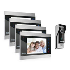 "TMEZON Video Türsprechanlage Türklingel Intercom System 7"" 4-Monitor 1-Kamera"