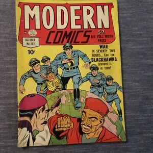 MODERN COMICS #102 OCT 1950 BLACKHAWK TORCHY (kf)
