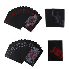 Quality black plastic PVC poker waterproof magic playing cards table game gif_xb