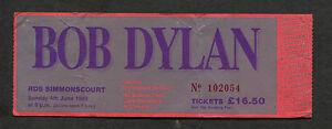 1989 Bob Dylan Concert Ticket Stub Dublin Ireland Never Ending Tour Europe