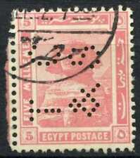 """Egypt 1921-2 SG#90, 5m Pink, """"TC&S"""" Used #D90693"""