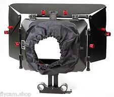 Filmcity MB-600 Matte box hood with15mm rod adapter for DV DSLR Video Camcorder