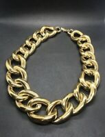 Vintage Givenchy Jewelry Necklace Gold Tone Chain Massive