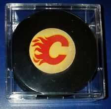 Vintage Viceroy CALGARY FLAMES Hockey NHL game Puck  Made in Canada OLD BEAUTY