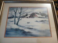 Margo Sebelist Signed and #110/200 Print  with COA - Rural Snowy Country Setting
