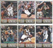 2012-13 Threads 6-card Floor Generals Basketball Insert Lot  Russell Westbrook