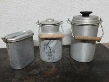 3 Alte Vorratsgefäße aus Alu- Milchkanne  usw.