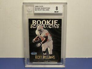 1999 Fleer Tradition Rookie Sensations Saints #20 Ricky Williams BGS 8 NM-MT