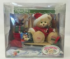 1999 Fisher-Price Briarberry Merry Christmas Berrykris & Sleigh Plush Bear Nos