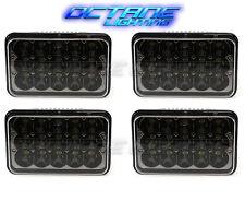 "4X6"" Black LED HID Cree Light Bulbs Clear Sealed Beam Headlamp Headlight Set"