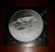 The U.S.S Enterprise $20 Fine Silver Coin Star Trek