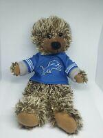 Detroit lions nfl teddy bear in hood Jersey soft fluffy plush doll figure mascot
