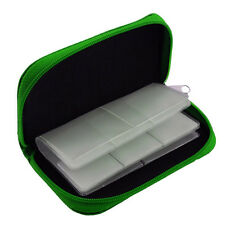 22 Slots Memory Card Carrying Case Holder Pouch for SD SDHC MMC Micro SD - Green