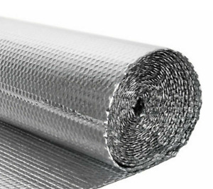 Bubble Foil Thermal Insulation Camper Van Wall Sound Deadening Loft Aluminium UK