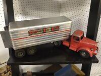 Smith-Miller Red Mack Truck Cab P.I.E Pacific Intermountain Express Trailer