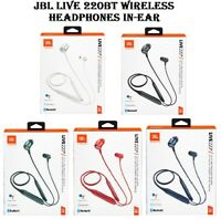 JBL Live 220BT Wireless Neckband Earbuds with Built-in Remote and Microphone