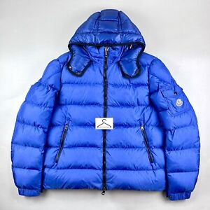 Moncler Hymalay Jacket Size 7 XXL Mens Puffer Coat Blue Down Insulation