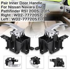 RHS + LHS Interior Inner Door Handle For Nissan Navara D40 Pathfinder R51 Chrome
