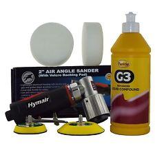 """75 mm (3 """") Mini da Pulidor de aire Kit + 500ml Farecla G3 Y 2 mezclado de compuestos de espuma Jefes"""