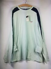 TOMMY BAHAMA XXL green Long Sleeve  jeans Cotton T SHIRT Retail $48.00