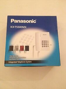 Panasonic KX-TS500MX Single Line Corded Phone White