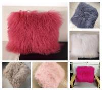16''-20'' Mongolian Tibetan Lamb Fur Pillow Cushion Cover Pillowcase Luxurious