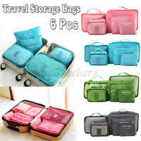 6Pcs Waterproof Storage Bag for Clothes Luggage Packing Cube Organizer Suitcase