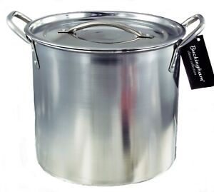 Stainless Steel Large Stock Pot Boiling  Cooking Pot 6 L Minor Dents/ Scratches