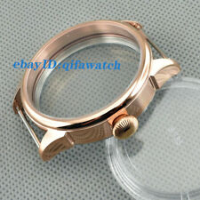 P645 Rose Gold 42mm Steel Watch Case Fit ETA 6497/6498 Seagull ST36 Movement