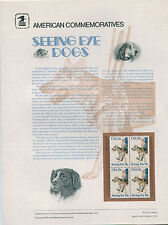 #1787 15c Seeing Eye Dogs Stamp USPS #113 Commemorative Stamp Panel