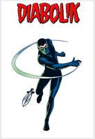 CARTOLINA Postale 10x15 ( Non Viaggiata ) DIABOLIK Serie Fumetti Da Collezione