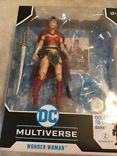 DC Multiverse Last Knight on Earth WONDER WOMAN McFarlane Toys NO BANE BAF Loose